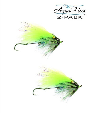 2 Pack Aqua Flies Skunk Fly