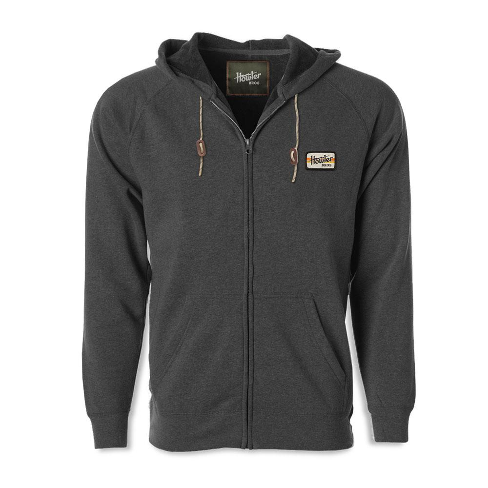 Howler Bros Full Zip Electric Stripe Hoodie in Charcoal