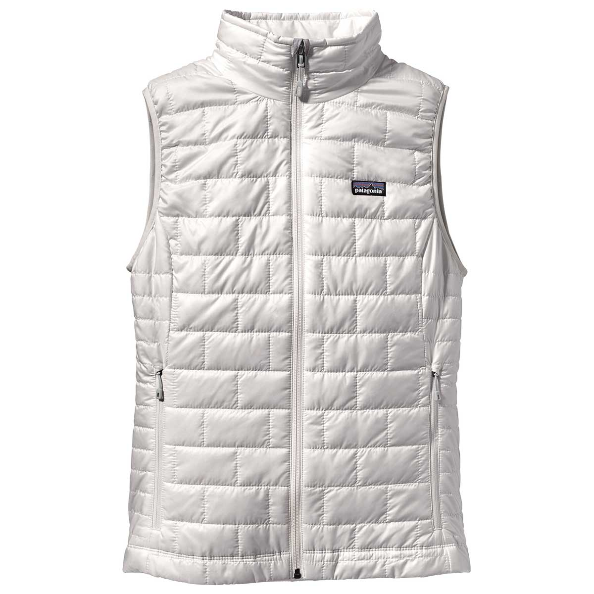 Patagonia women's Nano Puff Vest in Birch White front view