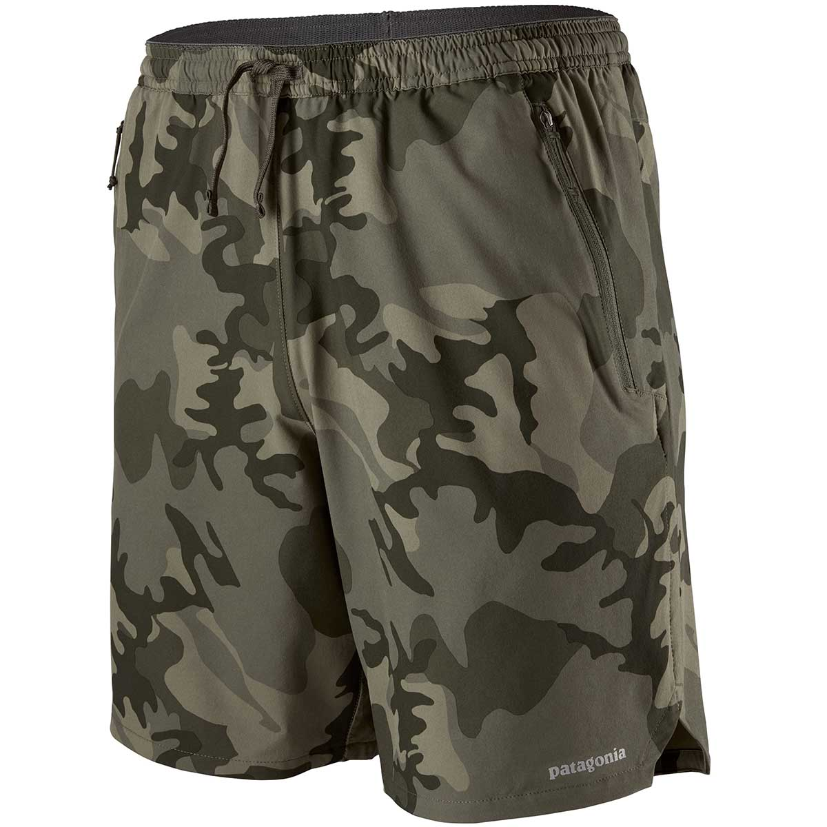 Patagonia men's Nine Trails 8in Short in River Delta and Industrial Green main view