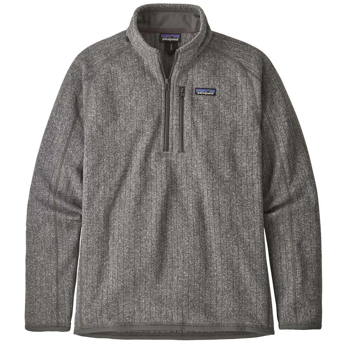 Patagonia men's Better Sweater Rib Knit 1/4 Zip in Stonewash front view
