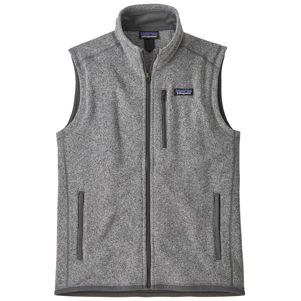 Patagonia men's Better Sweater Vest in Stonewash front view