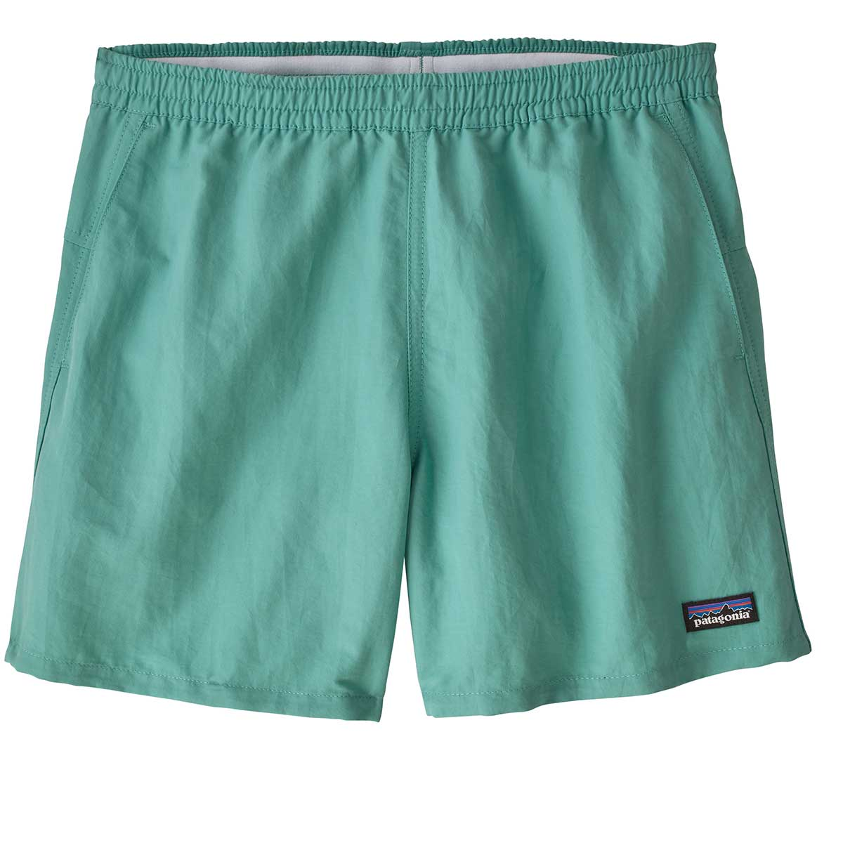Patagonia women's Baggies Shorts in Light Beryl Green front view