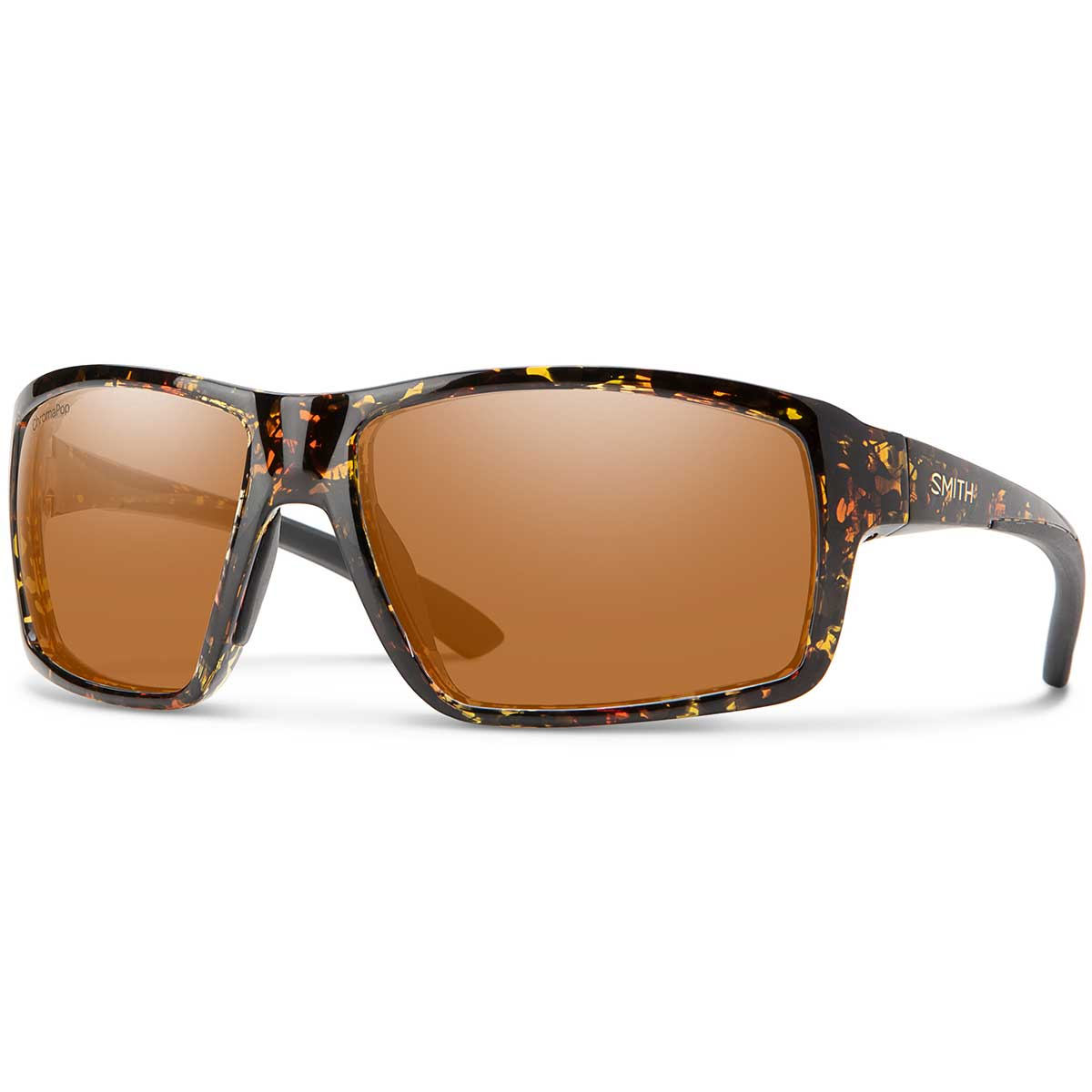 Smith Hookshot sunglasses in Dark Amber Tortoise with Copper polarized ChromaPop lenses