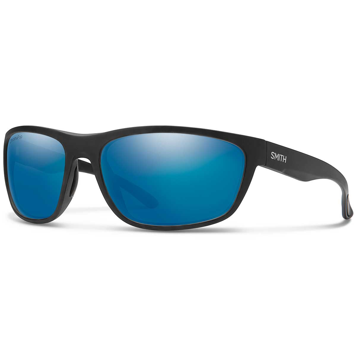 Smith Redding Sunglasses Polarized Chromapop in Matte Black with Blue Mirror Glass main view